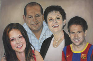 Oil Portrait Painting Family