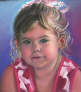 Pastel Portrait of a young child