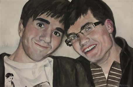 Watercolour Portrait of two
