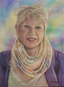 Oil Portrait Painting in Pastels