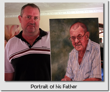 Oil Portrait Painting of his father