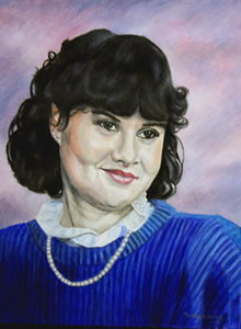 Oil Portrait Painting-Irish girl