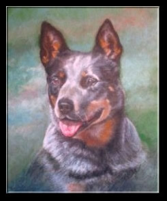 Champion Dog Pastel Portrait