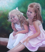 Best Friends by Brisbane Portrait Artist,Cynthia Hargraves